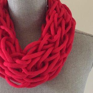 Scarlet handmade arm knit infinity scarf